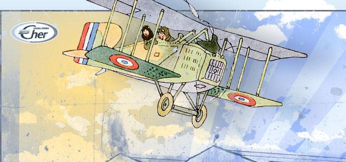 Histoire de l'aéronautique dans le Cher, 1910-1945